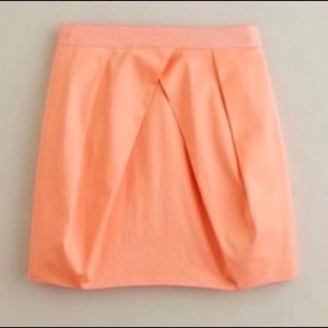 J. Crew • Orange Lunette Pleated Mini Tulip Skirt